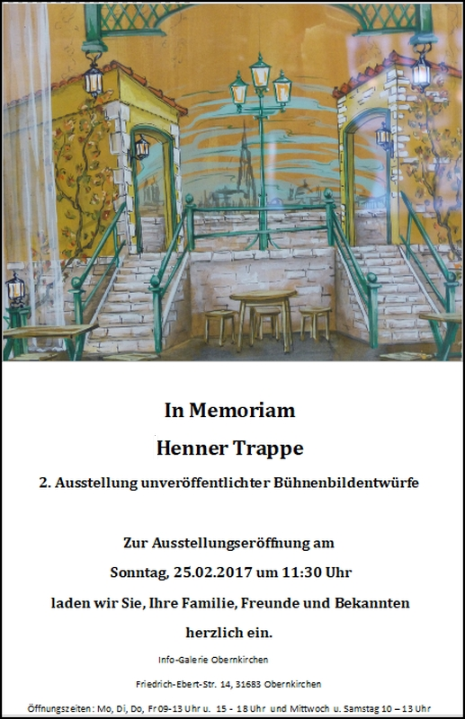 In Memoriam - Henner Trappe